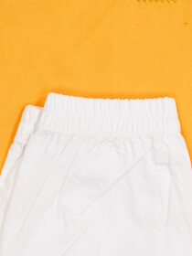 YELLOW EMBROIDERY KURTA & TROUSER DRESS FOR BOYS