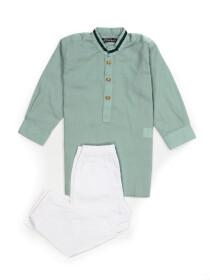LIGHT GREEN KURTA & TROUSER DRESS FOR BOYS