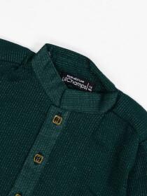 GREEN SHIMMER COTTON KURTA TROUSER DRESS FOR BOYS