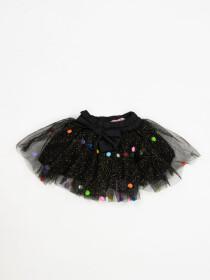SKIRT & TEE SHIRT SET FOR GIRLS- BLACK & BLUE -10082