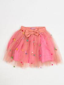 SKIRT & TEE SHIRT SET FOR GIRLS- PINK & WHITE -10082