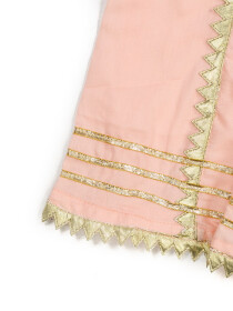 TRADITIONAL GOTA SHIRT FOR GIRLS-PINK-10410