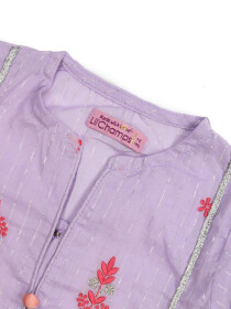 EMBRIODERED ETHNIC SHIRT AND DUPPATA DRESS -PURPLE-10184