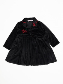 VELVET TOP WITH EMBROIDERY FOR BABY GIRLS