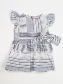STRIPED FROCK WITH CAPRI FOR BABY GIRLS-10406