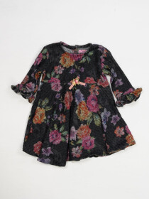 FLORAL SWEATER KNIT DRESS FOR GIRLS-10420