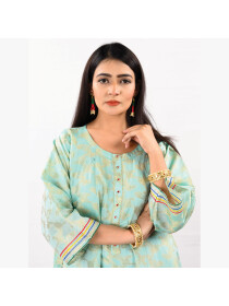 PEPLUM  STITCHED EMBROIDERED TOP