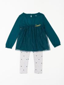 2-Piece Tulle Jersey Top & Legging Set