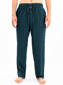 Green & Blue Check lightweight Cotton Relaxed Pajama