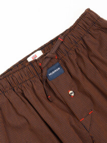 Brown & Black Lining lightweight Cotton Relaxed Pajama
