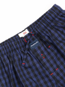 Blue & Black Check lightweight Cotton Relaxed Pajama