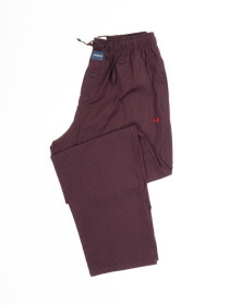 Maroon & Black lining lightweight Cotton Relaxed Pajama