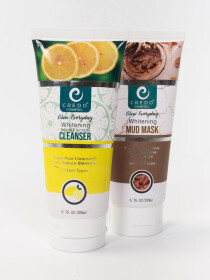 Double Action Cleanser and Whitening Mud Mask Pack