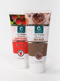 Whitening Mud Mask and Whitening Skin Polish Pack