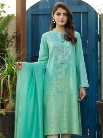Ferozi Printed Jacquard Unstitched 2 Piece Suit for Women