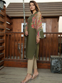 Green Lawn Unstitched Shirt for Women