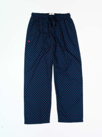 Women Navy & Pink Printed Cotton Blend Relaxed Pajama
