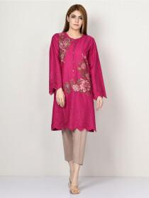 Pink Printed Lawn Stitched Shirtfor Women