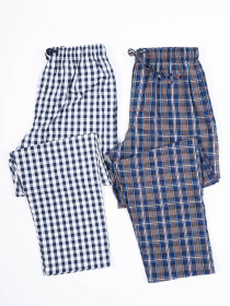 Men Essentials Cotton Blend Relaxed Pajama Pack of Two