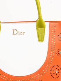 Stylish Orange Pattern Ladies Bags