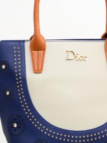 Stylish Blue Pattern Ladies Bags