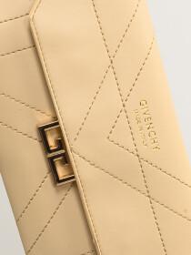Women Cream Small Wallet Clutch Cellphone Purse