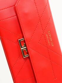 Women Red Small Wallet Clutch Cellphone Purse