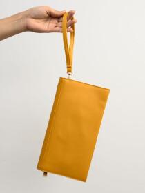 Women Yellow  Small Wallet Clutch Cellphone Purse