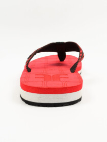 Red & White Men Designed Flip-Flop
