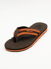 Brown & Orange Men Designed Flip-Flop