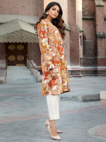 Off White Lawn Unstitched Shirt for Women