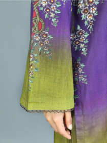 Purple Printed Lawn Stitched Shirt for Women