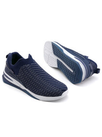 Men Navy Blue/ Light Grey Sports Lifestyle Shoes
