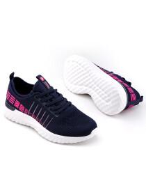 Women Navy Blue/Fuchsia Lifestyle Sports Shoes