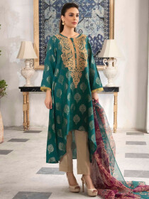Zinc Printed Jacquard Unstitched 2 Piece Suit for Women