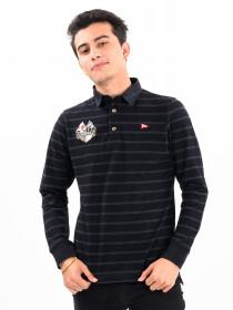 Men's Grey/Black Rugby Shirt