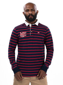 Men's Red/Blue Rugby Shirt