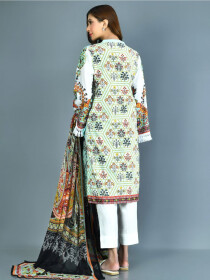 Aqua Printed Lawn Stitched Suits for Women