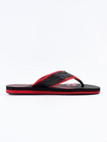 Black & Red Kito Flip Flop for Men