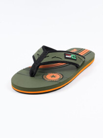Dark Grey & Orange Kito Flip Flop for Men