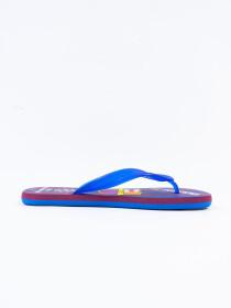 Men Blue & Maroon Comfort Flip Flop