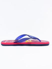 Men Navy Blue & Red Comfort Flip Flop