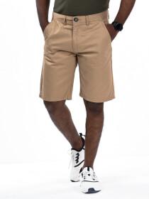Men's Khaki Slim Fit Comfort Twill Chino Shorts