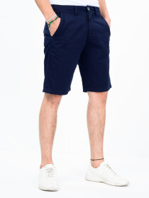 Men's Navy Blue Slim Fit Comfort Twill Chino Shorts