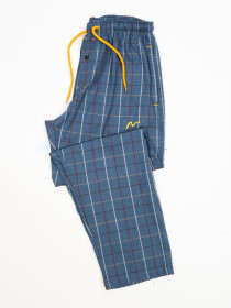 Multi Modern Check Cotton Relaxed Pajama with zipper side pockets