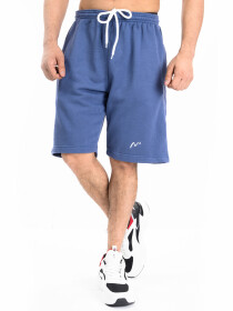 Men's Blue Workout Gym Terry Shorts