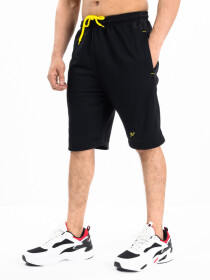 Men's Black Workout Gym Terry Shorts