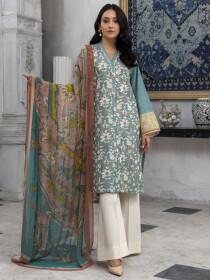 Zinc Embroidered Lawn Slub Unstitched 2 Piece Suit for Women