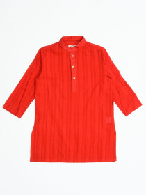 Traditional Red Kurta for Boys
