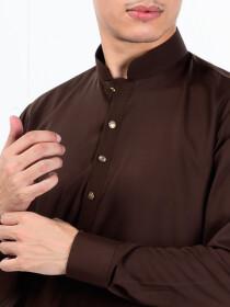 Men Slim Fit Chocolate Brown Super Soft Kurta Pajama